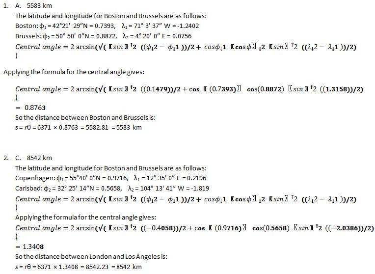 spherical geometry pre test