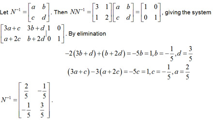 how to show a matrix is nonsingular